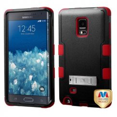 Samsung Galaxy Note Edge Natural Black/Red Hybrid Case with Stand