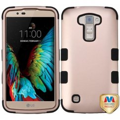 LG K10 Rose Gold/Black Hybrid Case
