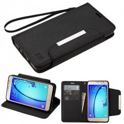 Samsung Galaxy On5 Black Wallet