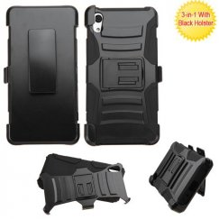 Black/Black Advanced Armor Stand Case with Black Holster