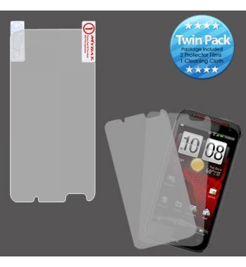 HTC Droid Incredible 4G LTE Screen Protector Twin Pack