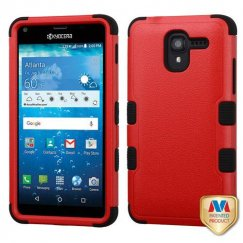 Kyocera Hydro Reach / Hydro View Natural Red/Black Hybrid Case