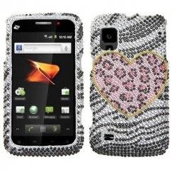 ZTE Warp N860 Playful Leopard Diamante Case