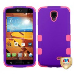 LG LS740 Volt Rubberized Grape/Electric Pink Hybrid Case