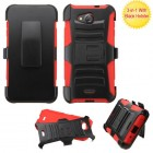 Kyocera Wave / Hydro Air Black/Red Advanced Armor Stand Protector Cover (With Black Holster)