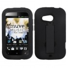 HTC Desire C Black/Black Symbiosis Stand Protector Cover