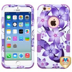 Apple iPhone 6/6s Purple Hibiscus Flower Romance/Electric Purple Hybrid Case