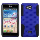 LG Spirit 4G Dark Blue/Black Astronoot Phone Protector Cover