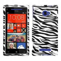 HTC Windows Phone 8x Zebra Skin Case