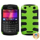 Blackberry 9360 Curve Natural Pearl Green Fishbone Phone Protector Cover