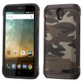 ZTE Avid Plus / Maven 2 Camouflage Gray Backing/Black Astronoot Case