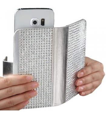 Universal Silver Diamonds Wallet