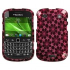 Blackberry 9900 Bold Twinkle Stars/Hot Pink 2D Silver Sparkle Case