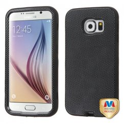 Samsung Galaxy S6 Carbon Fiber/Black Hybrid Case