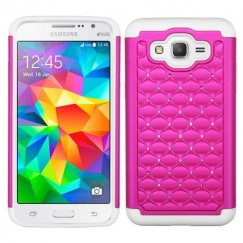 Samsung Galaxy Grand Prime Hot Pink/Solid White FullStar Case