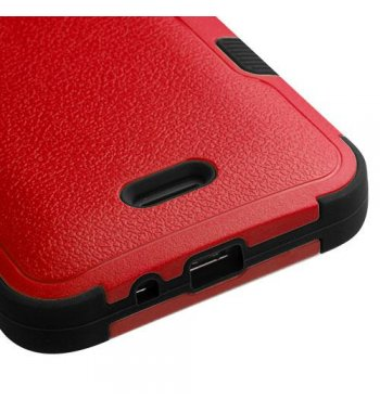 Kyocera Wave / Hydro Air Natural Red/Black Hybrid Case