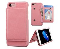 Apple iPhone 7 Pink Flip Wallet Executive Protector Cover(with Snap Fasteners)