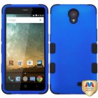 ZTE Avid Plus / Maven 2 Titanium Dark Blue/Black Hybrid Case