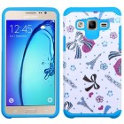 Samsung Galaxy On5 Eiffel Towers/Ribbon/Blue Advanced Armor Protector Cover