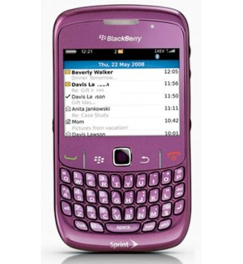Blackberry 8530 Curve Bluetooth GPS Purple Phone Verizon