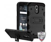 LG G Stylo 3 Black/Black Storm Tank Hybrid Protector Cover [Military-Grade Certified]