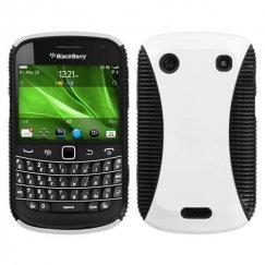 Blackberry Bold 9930 Rubberized White/Black Mixy Case