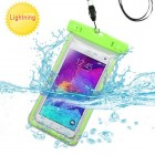 Universal Apple Green Lightning Waterproof Bag with Lanyard