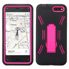 Amazon Amazon Fire Phone Hot Pink/Black Symbiosis Stand Case