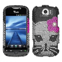 HTC myTouch 4G Slide Kitty Diamante Case