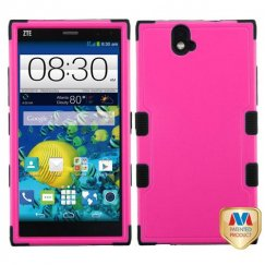 ZTE Grand X Max / Grand X Max Plus Natural Hot Pink/Black Hybrid Case