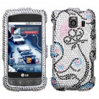 LG Optimus S Sunny Flower Diamante Case