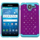 Kyocera Hydro Reach / Hydro View Purple/Tropical Teal FullStar Protector Cover