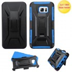 Samsung Galaxy Note 5 Black/Dark Blue Advanced Armor Stand Case with Black Holster