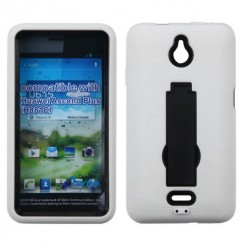 Huawei Valiant / Ascend Plus Black/White Symbiosis Stand Case