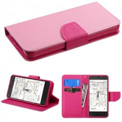 Amazon Amazon Fire Phone Pink Pattern/Hot Pink Liner Wallet with Card Slot