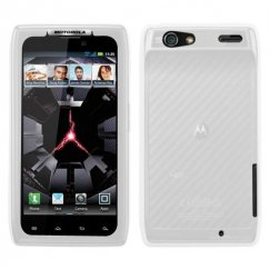 Motorola Droid RAZR Solid Skin Cover - Translucent White