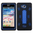 LG Spirit 4G Dark Blue/Black Symbiosis Stand Protector Cover