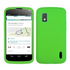 LG Nexus 4 Solid Skin Cover - Electric Green