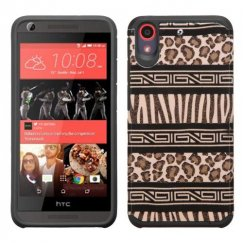 HTC Desire 555 Zebra Skin-Leopard Skin/Black Advanced Armor Case