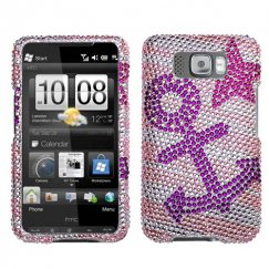HTC HD2 Anchor Star Diamante Case