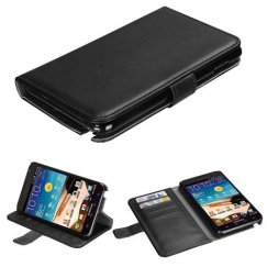 Samsung Galaxy Note Black Book-Style Wallet with Black Tray