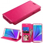 Samsung Galaxy Note 5 Hot Pink Wallet with Tray