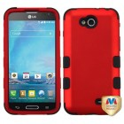LG Optimus L90 Titanium Red/Black Hybrid Case