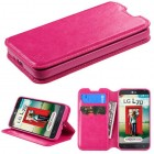 LG Optimus L70 Hot Pink Wallet with Tray