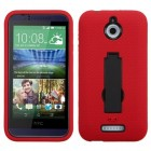 HTC Desire 510 Black/Red Symbiosis Stand Case