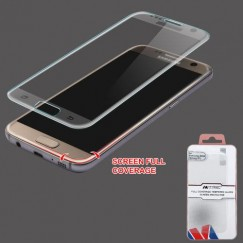 Samsung Galaxy S7 Full Coverage Tempered Glass Screen Protector/Translucent Frosted