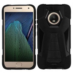 Motorola Moto G5 Plus Black Inverse Advanced Armor Stand Case