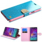 Samsung Galaxy Note 4 Blue Glittering (with Diamante Belt)