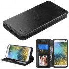 Samsung Galaxy E5 Black Wallet with Tray