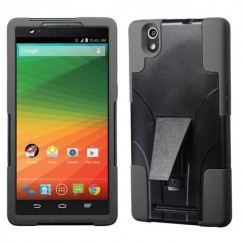 ZTE ZMax Black Inverse Advanced Armor Stand Case